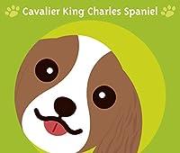 見つめる キャバリア キングチャールズ スパニエル ブレンハイム 犬 ステッカー グリーンバック MK-2