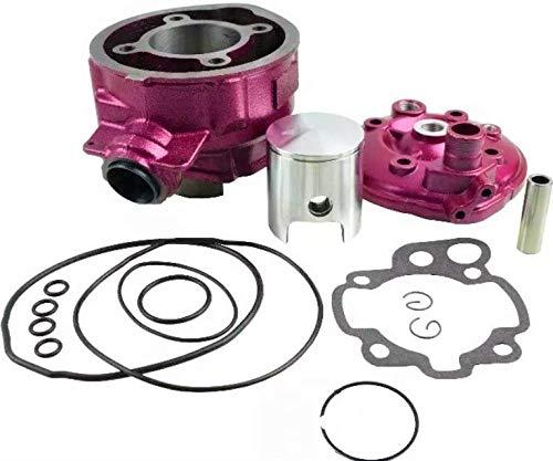"Mota Kit Pink 75cc de hierro fundido ""Due Plus"" MINARELLI AM6 culata racing performance para 50 con caja"