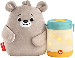 Fisher-Price Sensimals Osito peluche de cuna con proyector para bebé con música, luces y sonidos luciérnagas relajantes...