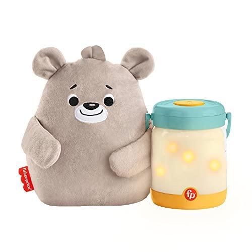 Fisher-Price Sensimals Osito peluche de cuna con proyector para bebé con música, luces y sonidos luciérnagas relajantes para la hora de dormir (Mattel GRR00)
