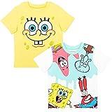 Nickelodeon Spongebob Squarepants Toddler Boys 2 Pack Short Sleeve T-Shirt 4T