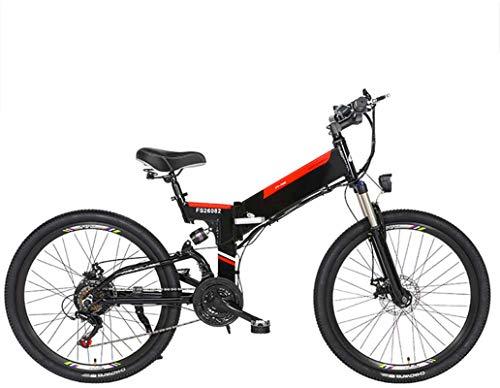 Nueva bicicleta de montaña eléctrica, Bicicleta eléctrica plegable bicicleta de montaña eléctrica con 24' súper ligero de aleación de aluminio de bicicletas eléctricas, suspensión total de la prima y