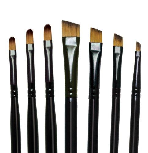 Royal and Langnickel Majestic Premium - Set di 7 pennelli Filbert e Angular