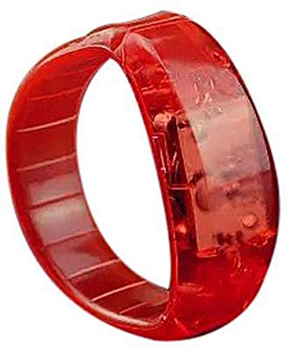 NTJ Bracelet LED Flashing W/Sound & Motion 2 1/8' for Kids or Parties (Red)