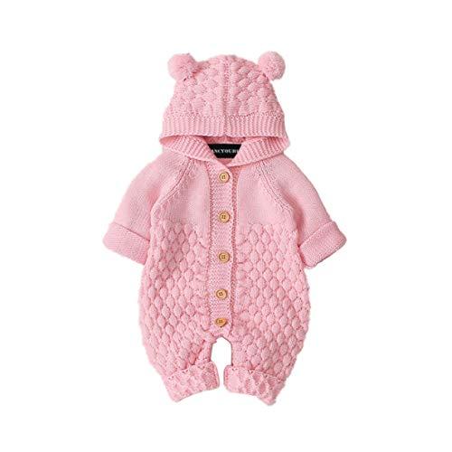 Suang mooie schattige pasgeboren baby Jumpsuit Outfit gebreide trui met capuchon kleding