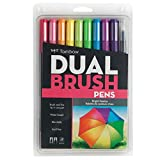 Tombow 56185 Dual Brush Pen Art Markers, Bright, 10-Pack....