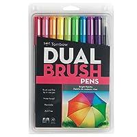 Tombow Dual Brush Pens 10/Pkg-Bright (並行輸入品)