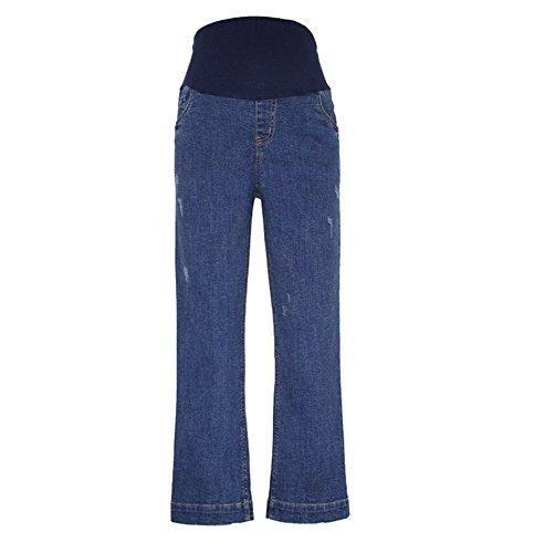 keephen Printemps Eté New Femmes Jeans de maternité, Jeans de Mode lâche