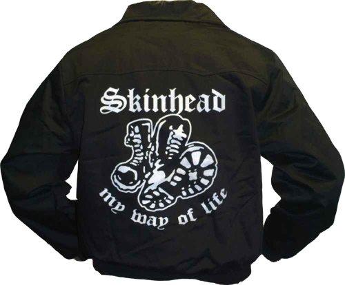 Nix Gut Skinhead My Way of Life Harrington Jacke, schwarz, Grösse S