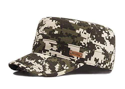 Unisex Military Style Cap Army Kappe Camouflage Baseball Cap Wandern Mütze (Grün-2)