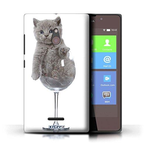 Stuff4 Telefoonhoesje/Cover voor Nokia XL/Wijnglas Design/Leuke Kittens Collectie
