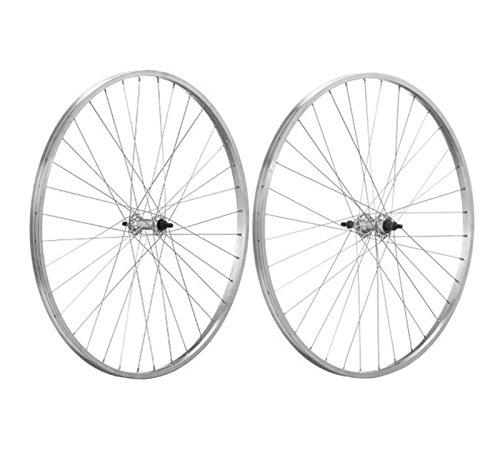 ONOGAL 2X Llanta Rueda Bicicleta de Piñon Libre 700 5/8 Aluminio Plata 1V Singlespeed 6272