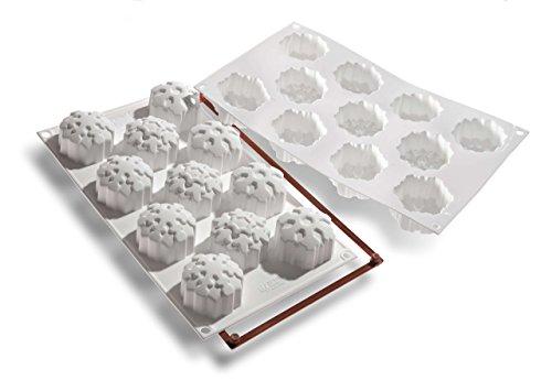 Silikomart 26.115.87.0068 SF115 Moule Forme Flocon de Neige 11 Cavités Silicone Blanc