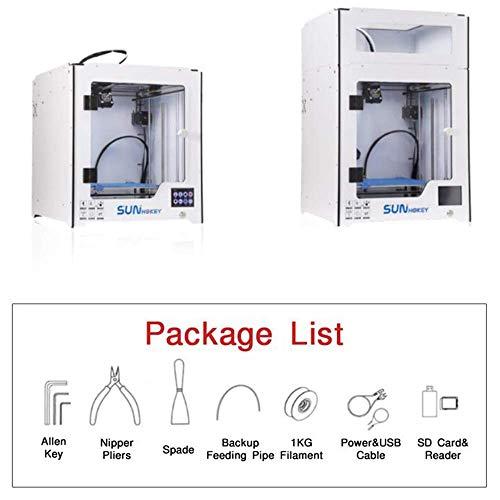 ZHTY Imprimante 3D avec lit Chauffant et boîtier de Commande en Verre DIY Portabilité personnelle Imprimantes 3D, Taille d'impression 250 * 250 * 250