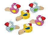 6x Vogelflöte als Mitgebsel zum Kindergeburtstag, Gastgeschenk, Mottoparty