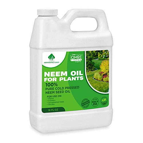 Neem Oil - Neem Oil Spray for Plants - 16 Oz - 100% Pure Cold Pressed Neem Oil for Plants Concentrate - Horticultural Protection for Indoor and Outdoor Plants, Leaf, Garden, Vegetable, Fruit Trees