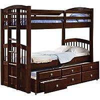 Donco Kids 134-3-Ttcp Angelica Captains Trundle Bunk Bed