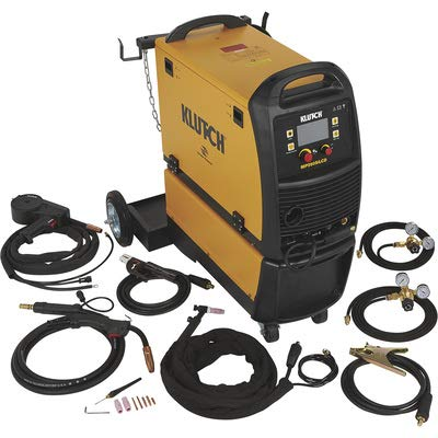 Klutch MIG Welder with Multi Processes, Spool Gun, LCD Display and...