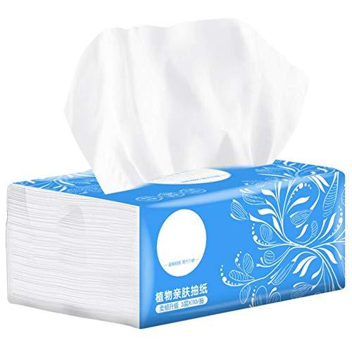 Taschentuch Serviette,3 Schichten Native Wood Home Papiertuch Zellstoff Einweg-Gesichtsreinigung Weichpapier Toilette Bad(1 Packung)