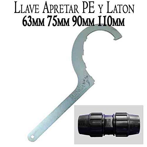 Suinga. LLAVE de apriete ACERO para FITTING de POLIETILENO y LATON. Accesorio para piezas polietileno de 63mm, 75mm, 90mm y 110mm.