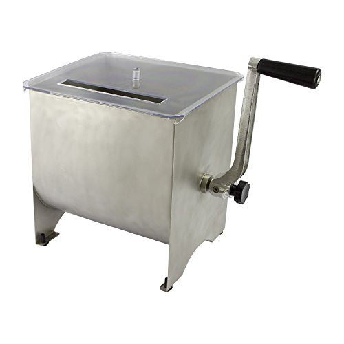 Chard MM-102, Meat Mixer with Stainless Steel Hopper, 20lbs , silver