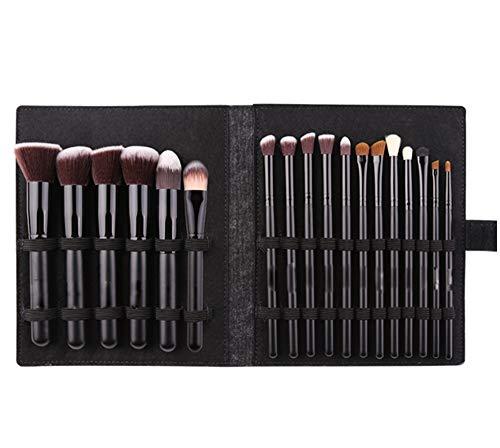 unknow DAMM Makeup Brush 8 TLG. Kunstfaser-Beauty Set Schwarzer Holzgriff Waschbares Und Wiederverwendbares Beauty-Tool Beauty Tool Set Für Anfänger