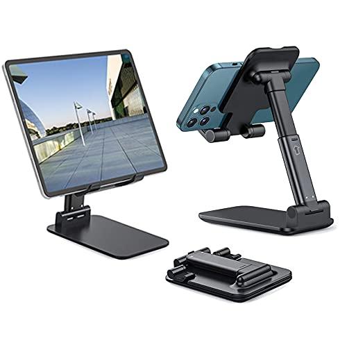 Zoeley Soporte Móvil, Multiángulo Soporte Tablet Mesa con Almohadilla de Silicona Antideslizante Soporte Dock Base Plegable para iPhone,...