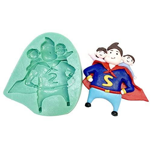JIUYECAO Molde de silicona para repostería del día del padre, Superman Dad...