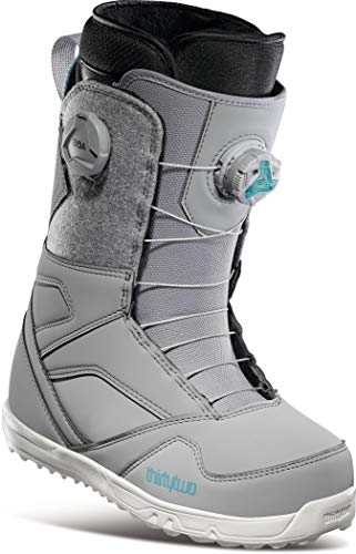 Thirty Two STW Double BOA Womens Snowboard Boots Grey Sz 8