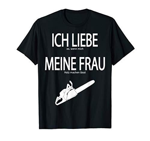 Herren Holzfäller T Shirt Geschenk Forstwirt Holz Waldarbeiter T-Shirt
