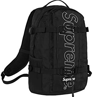 "Supreme Backpack "" Black "" 18FW ( シュプリーム バックパック "" ブラック "" 18FW)[国内正規品] (Black)"