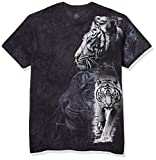 Photo de The Mountain White Tiger Stripe T-Shirt pour Adulte Noir Taille L par