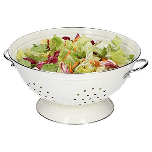 HiT | Seiher groß | Ø 280 mm | Koch-Sieb | Nudelsieb | Küchen-Zubehör | 4 Farben, Farbe:cremeweiß