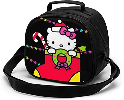 Bolsa de almuerzo para niños, de Hello Kitty, reutilizable, portátil, bolsa de almuerzo con correa para el...