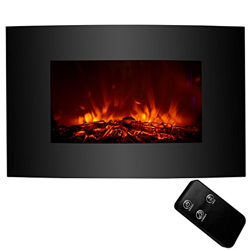 KUPPET Wall Freestanding Mounted Recessed Electric Fireplace Insert, LED Fireplace Heater, Remote Control with Timer, Touch Screen, Adjustable Flame Colors and Speed, 750W/1500W (33inch A) Décor Dining electric Features Fireplaces Home Kitchen