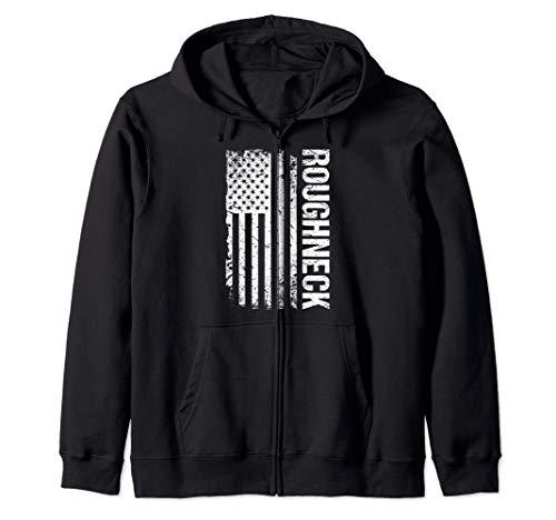 Roughneck American Flag Oilfield Zip Hoodie