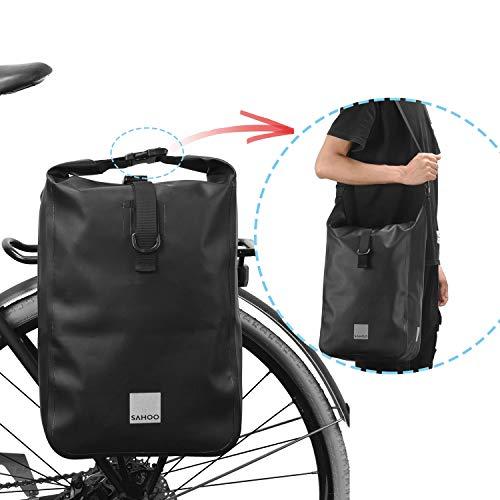 HGDM 10L Bolsa Alforja Trasera para Bicicleta, Multifunción Bolsa Bicicleta para Portaequipajes Asiento Trasero para Carretera MTB Bicicleta De Montaña Moto,Accesorios para Bicicletas
