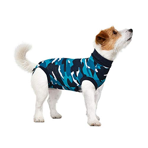Suitical Recovery Suit Hund, XXS, Blau Camouflage
