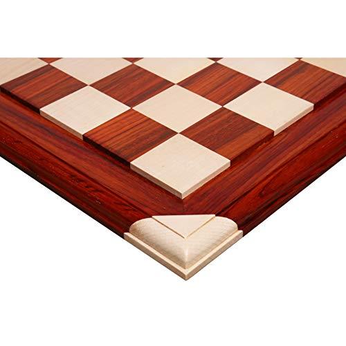Royal Chess Mall - Tablero de ajedrez de lujo de madera de palisandro y arce de 21' - 55 mm cuadrados - azulejos elevados