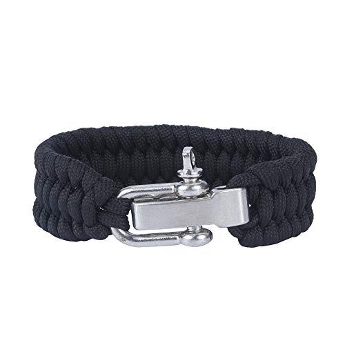 Alomejor Paracord Survival Bracelet en Acier Inoxydable Multifonctionnel en Plein Air De Survie Paracord Bracelet pour Randonnée Camping Pêche De Chasse