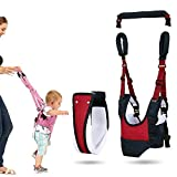 Handheld Baby Walking Harness for Kids, Adjustable Safety Stand and Walk Learning Assistant for Baby, Multi-Function Baby Walking Harness, Great Gift for 6-18 Months Baby (Navy Blue + red)