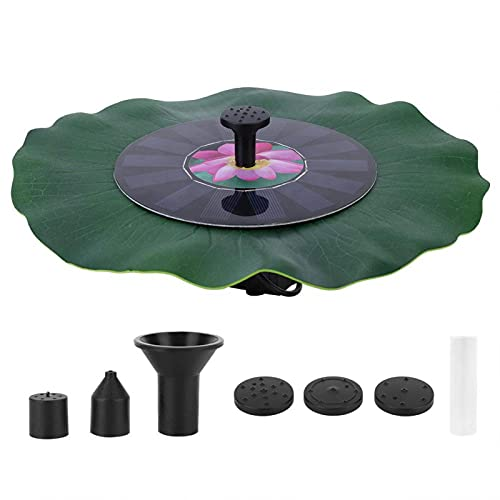 RBSD Bomba de Fuente, Fuente Solar fácil de configurar y reconfigurar sin Necesidad de Enchufe para jardín para el hogar