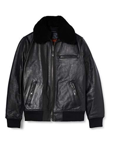 Schott Herren Jacke LC1380 Schwarz (Black) S