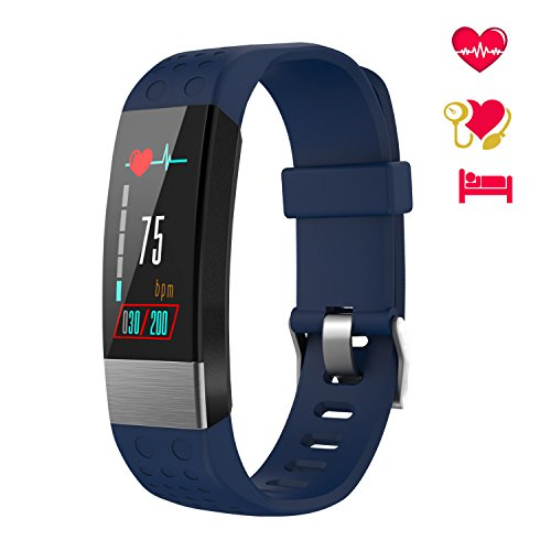 WiMiUS Fitness Tracker, Orologio Braccialetto Fitness Watch Schermo a Colori Cardiofrequenzimetro Uomo Donna Impermeabile IP67 Pedometro da Polso Activity Tracker Smartwatch per iOS Android