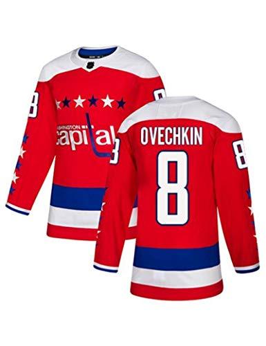 Eishockeytrikot # 77 Oshie # 92 Kuznetsov # 8 Ovechkin Schnelltrocknender Hockey-Fan Atmungsaktive Sport-Wearhirts Langarm-Spieler-T-Shirt S-XXXL