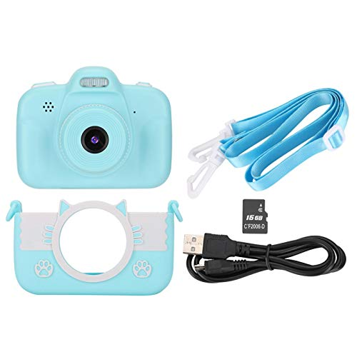 Kids Printing Camera, Mini 720P Children Selfie Dual Lens Digital Touch Screen Camera, Supports Shooting Recording Video, Best Holiday Birthday Christmas Gift for Children, Blue