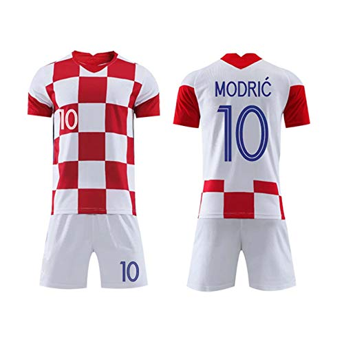 YGLCH Croatia Jersey 2020 Modric Sports Uniforms Home and Away Adult Children's Football Suits,A,28.