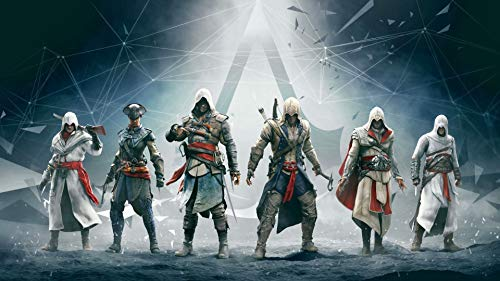 Ubisoft 5D-Diamant-Stickerei Assassin's Creed Diamant Malerei Kreuzstich Vollquadratisch Rund Strass Mosaik Moderne Kunst Wandtattoo 30 x 40 cm