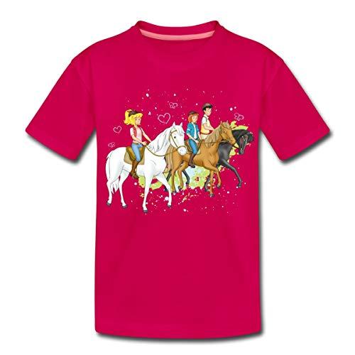 Bibi Und Tina Ausritt Mit Alexander Falkenstein Kinder Premium T-Shirt, 110-116, Dunkles Pink