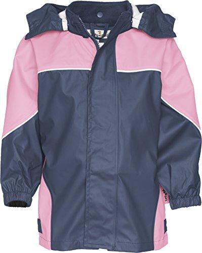 Playshoes Jungen Regenjacke Basic Jacke, Marine/Rosa, 140 EU